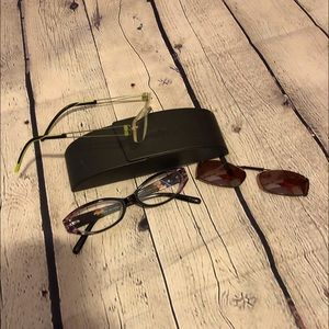 Silhouette frames  with sunglasses clip on